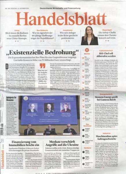 Zeitschrift Handelsblatt abo