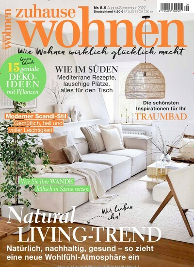 zuhause wohnen abo zeitschriften. Black Bedroom Furniture Sets. Home Design Ideas