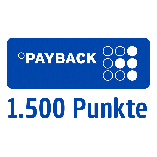 1.500 PAYBACK Punkte