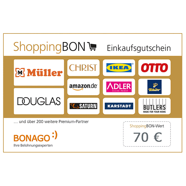70 € ShoppingBON